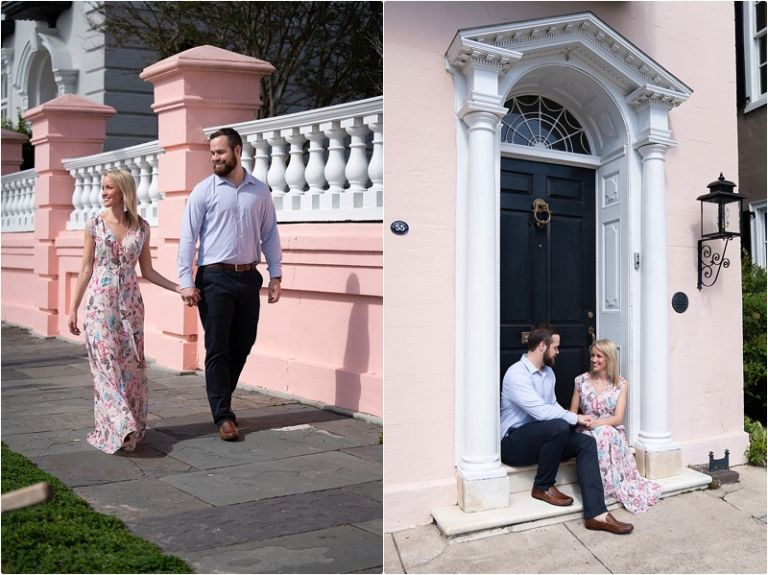 charleston engagement photo