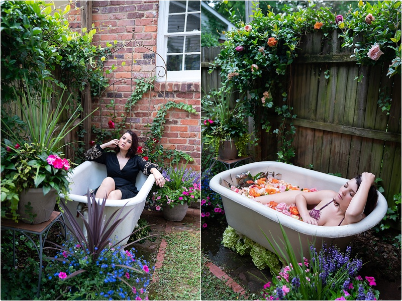 photography tub bath flowers