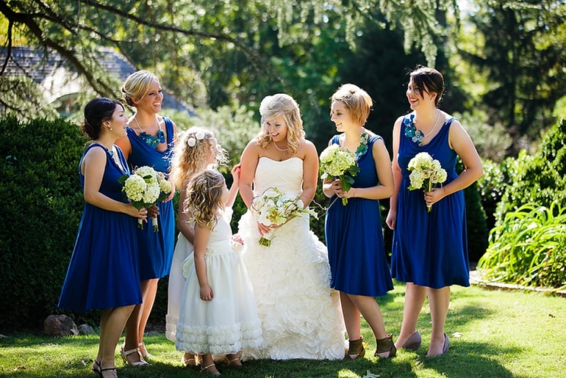 bridesmaids dresses navy blue